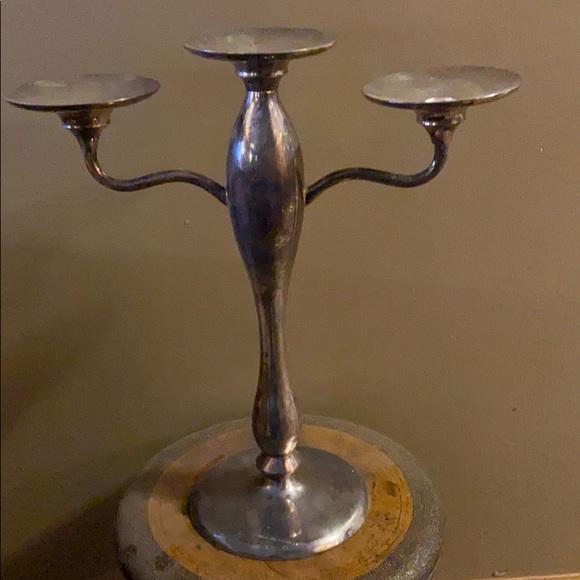 Pottery Barn Silver Candlestick holder
